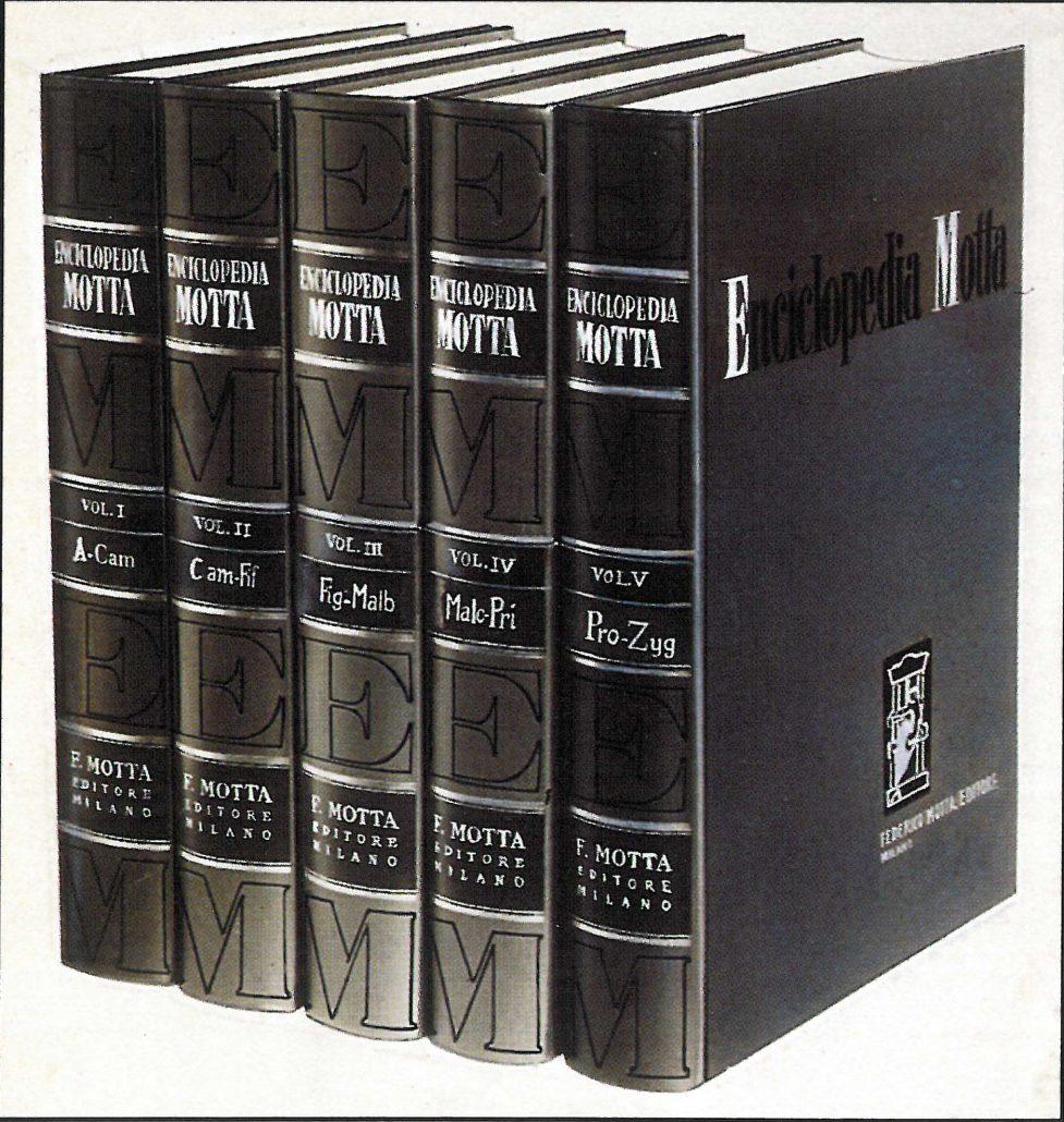 La prima edizione della Enciclopedia Motta