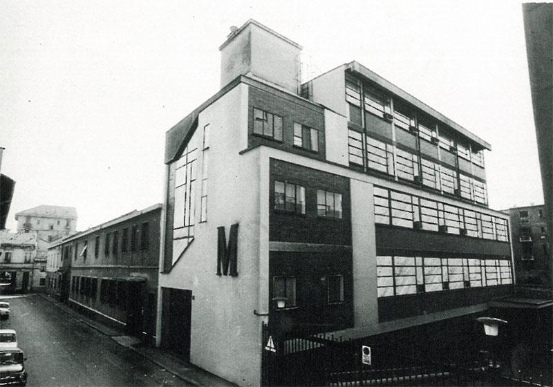 La sede della Federico Motta Editore, ampliata negli anni Sessanta
