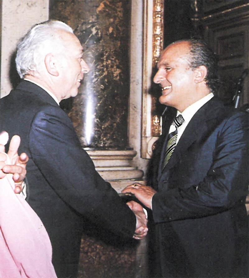 Virginio Motta con il ministro Carlo Ripamonti