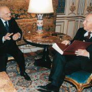 Virginio Motta con il presidente della Repubblica Carlo Azeglio Ciampi