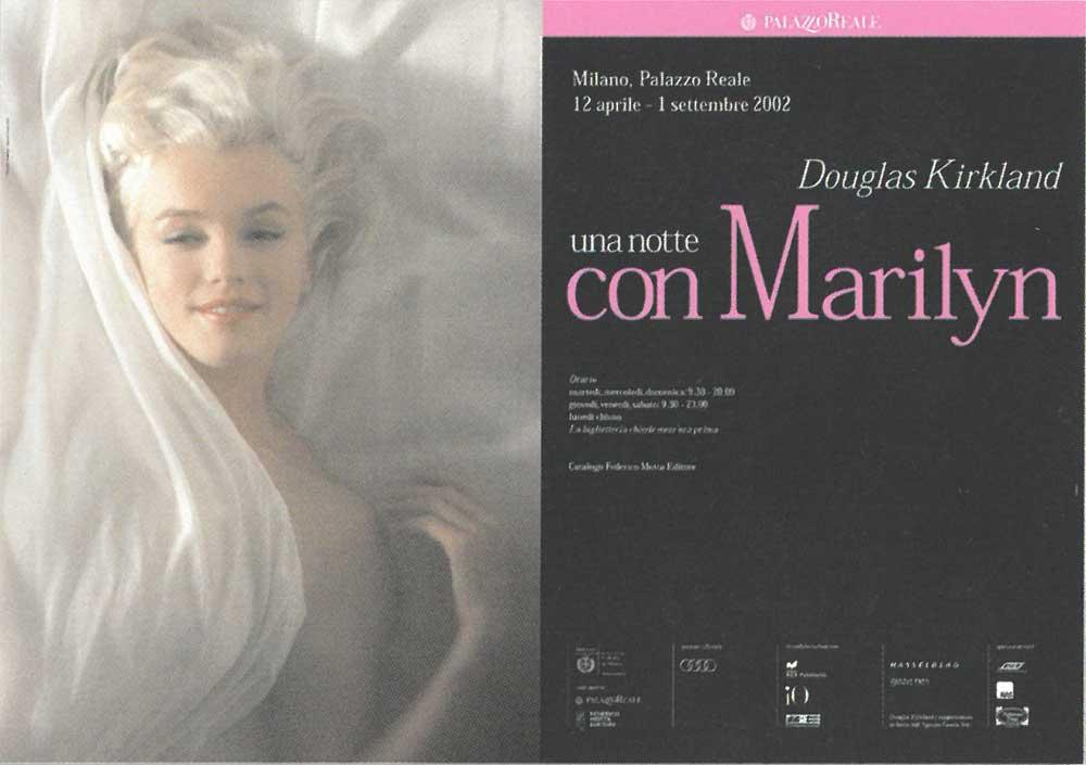 """Federico Motta Editore è stato anche tra gli organizzatori di """"Una notte con Marilyn"""" del fotografo Douglas Kirkland, tenuta al Palazzo Reale di Milano nel 2002"""